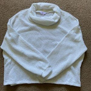 White Cropped Sweater